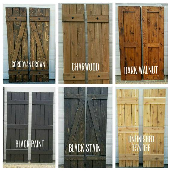 wood shutters board and batten exterior cedar by alittlecurbappeal CHIKNRN