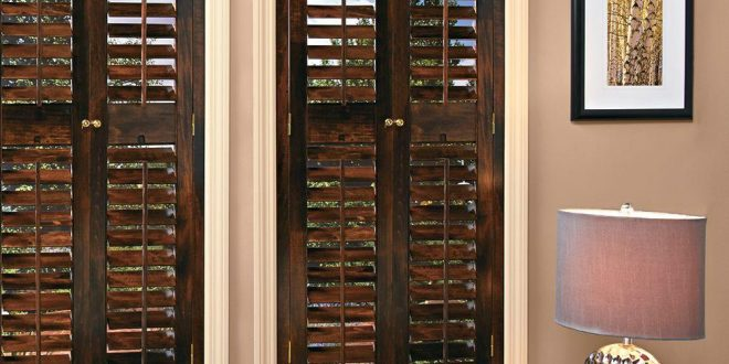 wood shutters homebasics plantation walnut real wood interior shutters (price varies by  size) ZKRNJVV