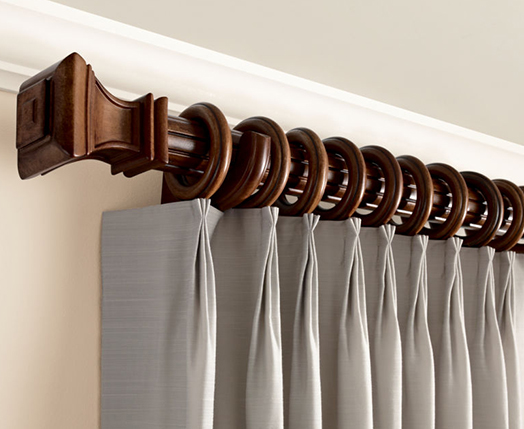 wooden curtain rods kirsch decorative wood drapery hardware, kirsch wood poles | drapery rods  direct JCOWCKX