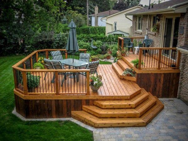 wooden deck designs FKWRSTE