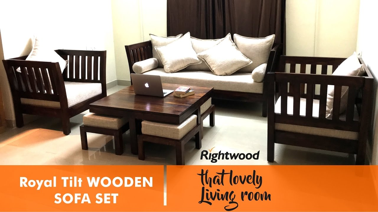 wooden sofa set designs sofa set design - royal tilt wooden sofa by rightwood furniture. decorating CZWPBDJ