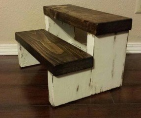 wooden step stool rustic stepstool wood stool farmhouse style step by owassodesign, $34 LCBCLEG