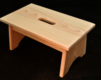 wooden step stool wood step stool with handle hole unfinished pine 16 LQTQSSW