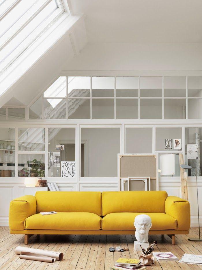 yellow sofa furniture shoot GHPYZET