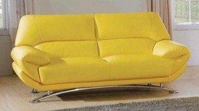 yellow sofa yellow leather sofa QYUVDRG