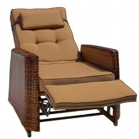 Reclining Garden Chairs best selling pe wicker outdoor recliners, pack of 2 LXWKWNO