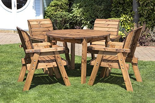 Wooden Garden Furniture wooden garden furniture hgg round wooden garden table and 4 chairs dining YOSMFDS