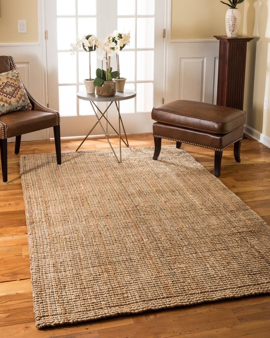 ... image alt text: chambers jute rug; earth friendly: yes; handmade: yes; VMQROOH