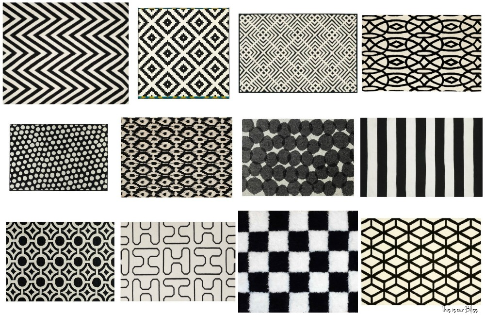 12+ bold black and white rugs black and white geometric rugs this is VDISDLA