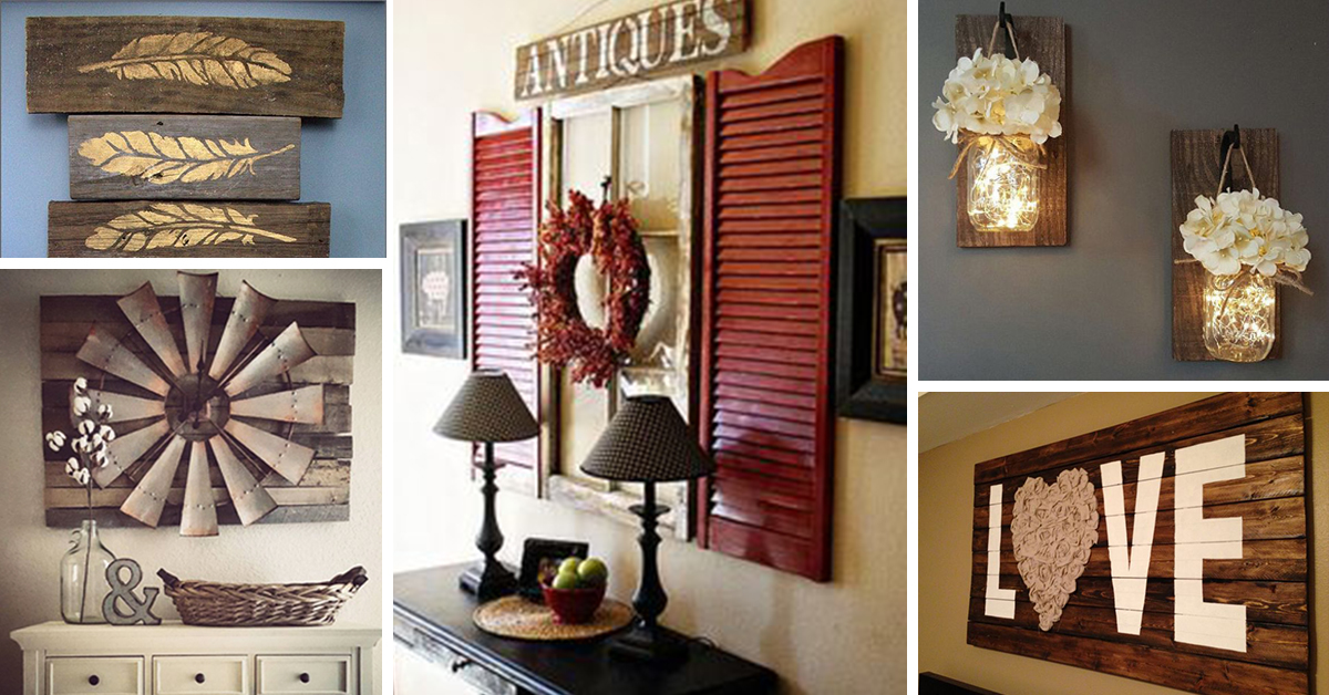 27 best rustic wall decor ideas and designs for 2018 XZIMKAK