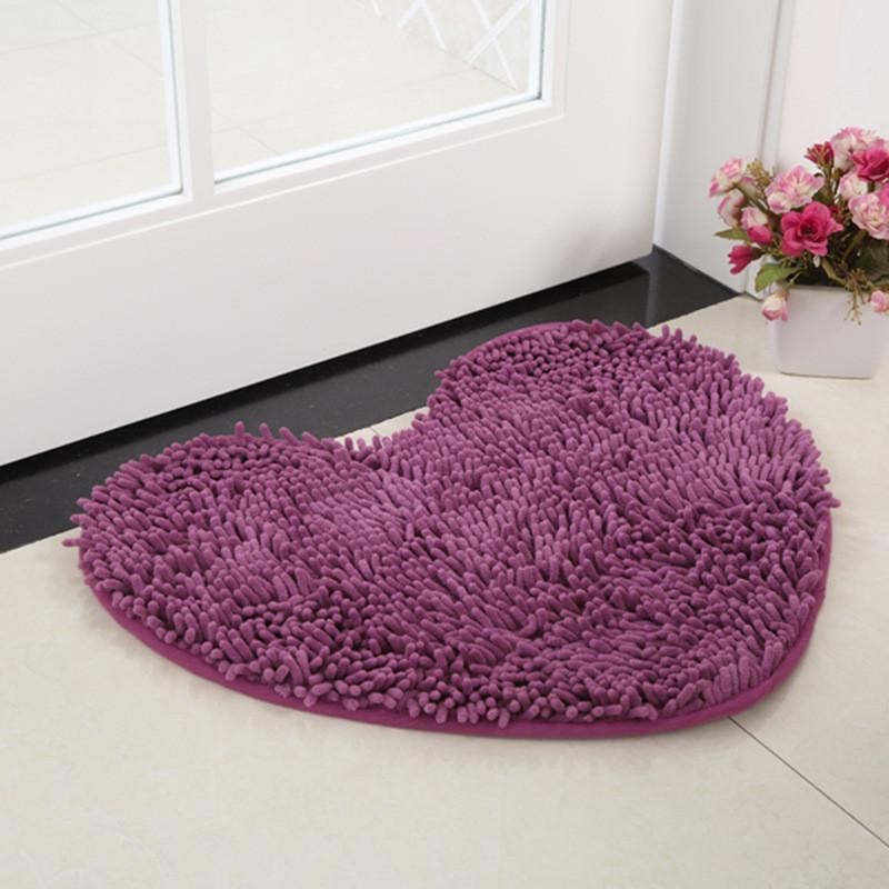 40cm*28cm bath mat bathroom carpet kitchen non slip mat chenille rug for RVAHMVI
