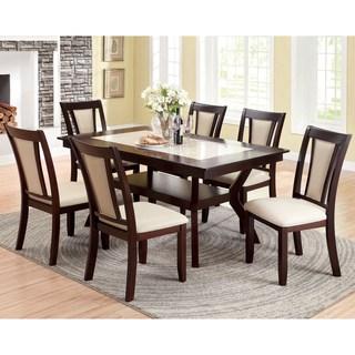 7 piece dining set furniture of america kateria dark cherry 7-piece dining set CMYSZPJ