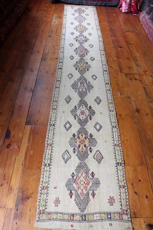 7886 turkish konya obruk kilim runner rug 58x365cm DOFVUYO