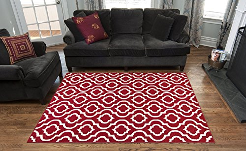 8×10 area rugs impressive red and ivory contemporary moroccan trellis design 8 10 area  intended HOUMCXX