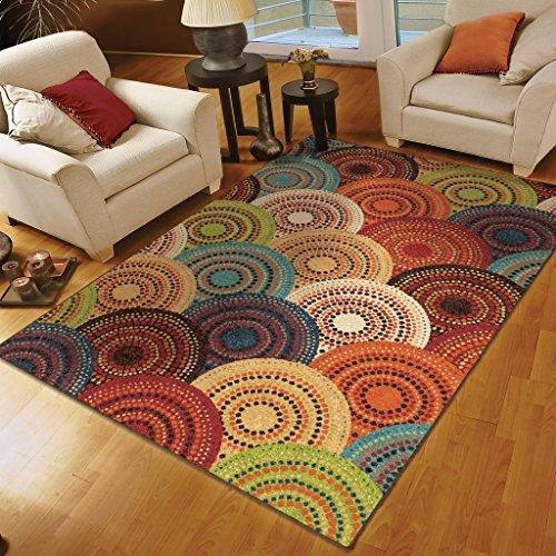8×10 area rugs orian rugs circles gomaz multi area rug 78 x 1010 area rugs shop KOSQJDB