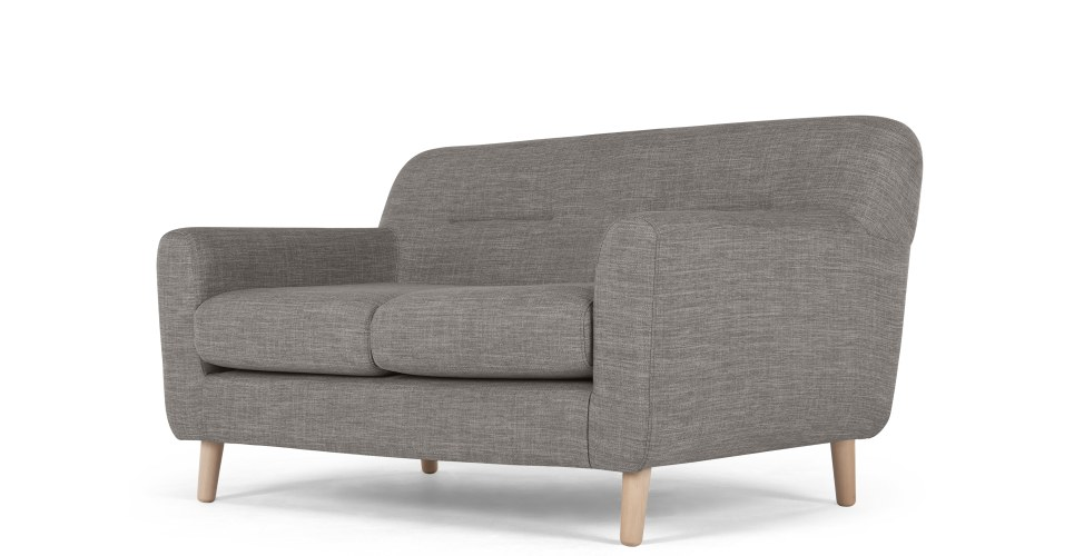 a 2 seater sofa, in chalk grey BZOWDQA