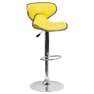 adjustable bar stools adjustable height yellow cushioned bar stool MOASSYH