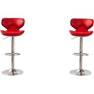 adjustable bar stools harlow adjustable height swivel bar stools (set of 2) GBLDSDZ