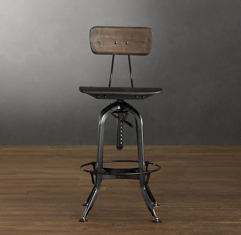 adjustable bar stools with backs LEUZBMM