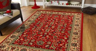 amazon.com: large persian rugs for living room 8x11 red green beige cream EETNOMK