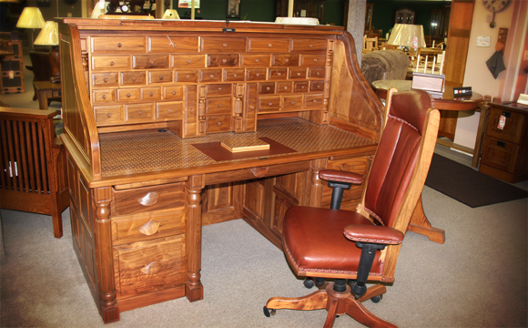 Amish furniture presidentu0027s desk GAXJTWT