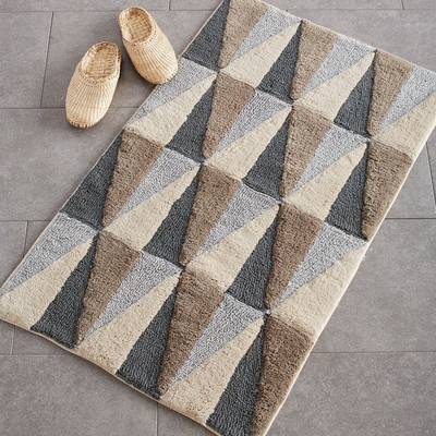 angles bath rug - neutral NANGLYM
