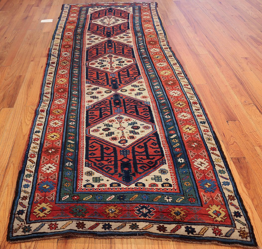 antique caucasian kazak runner rug 46425 whole nazmiyal HPYJSUV