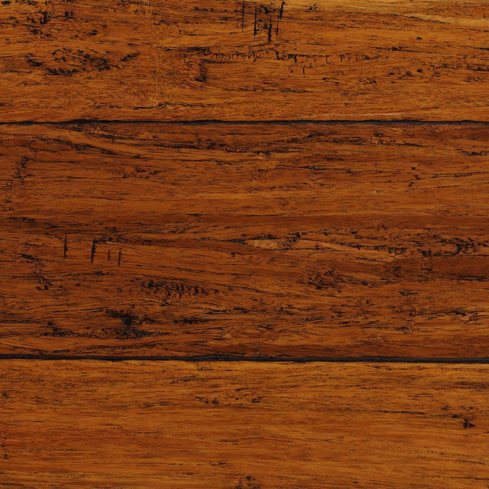 bamboo flooring home decorators collection hand scraped strand woven harvest 1/2 in. t x 5 YDTGFWI