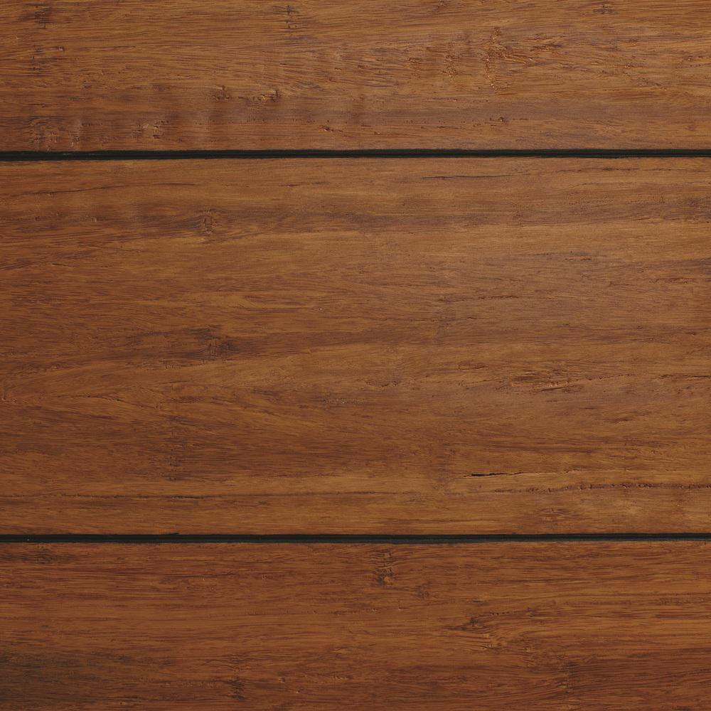 bamboo floors home decorators collection strand woven distressed dark honey 1/2 in. t x QTOMKCV