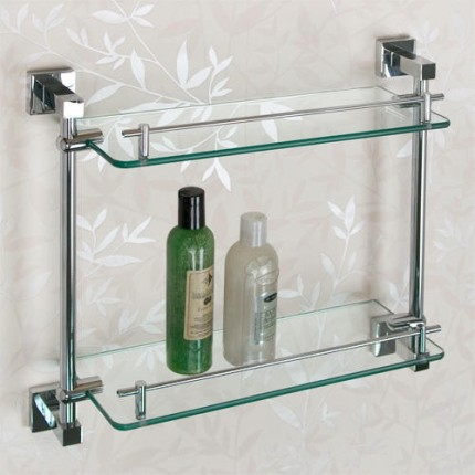 Bathroom Glass Shelves albury tempered glass shelf - two shelves TUCNAWV
