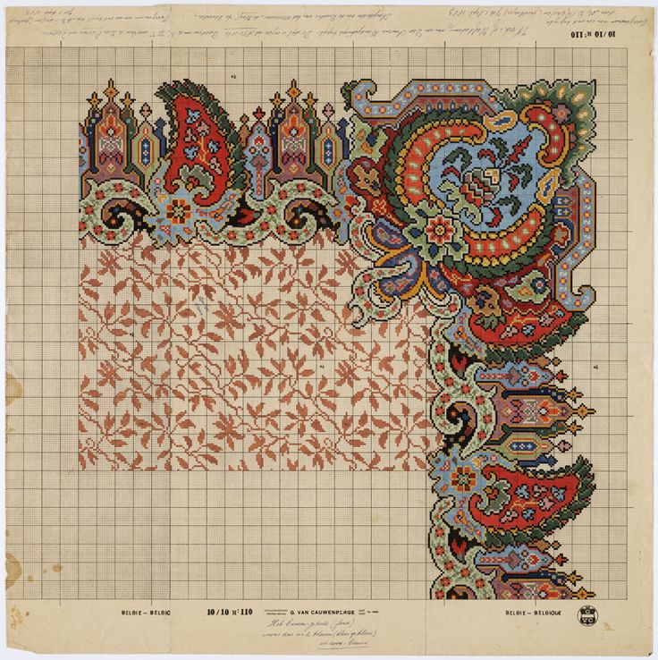 best carpet designs drawing pattern after a carpet design from 1850-1860 by m.d. renssen, 1905 / ACAEBVX