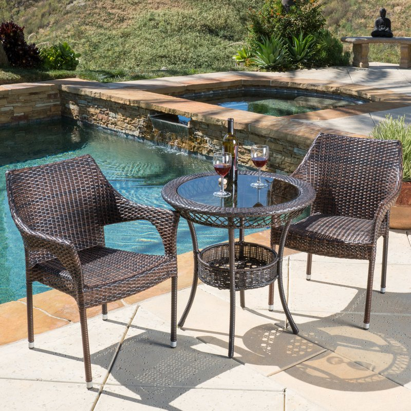 Bistro Sets crowley 3 piece bistro set NUKDQNX