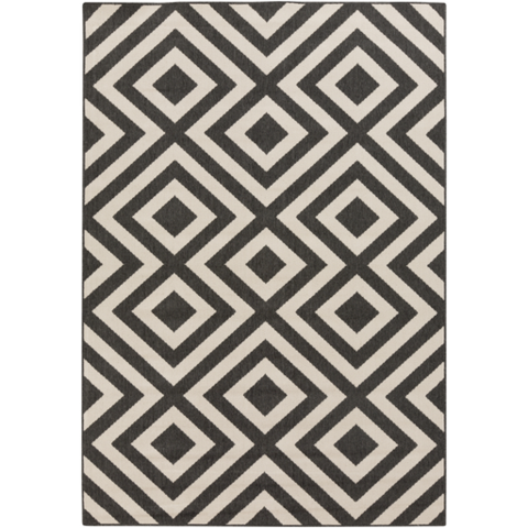black and white rugs alfresco beige u0026 black rug design by surya ... IJPZOON