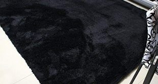 Black rugs mbigm super soft modern area rugs, living room carpet bedroom rug, nursery DARLNCC
