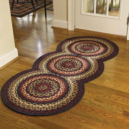 braided rug designs folk art braided rug runner ALCHUHD