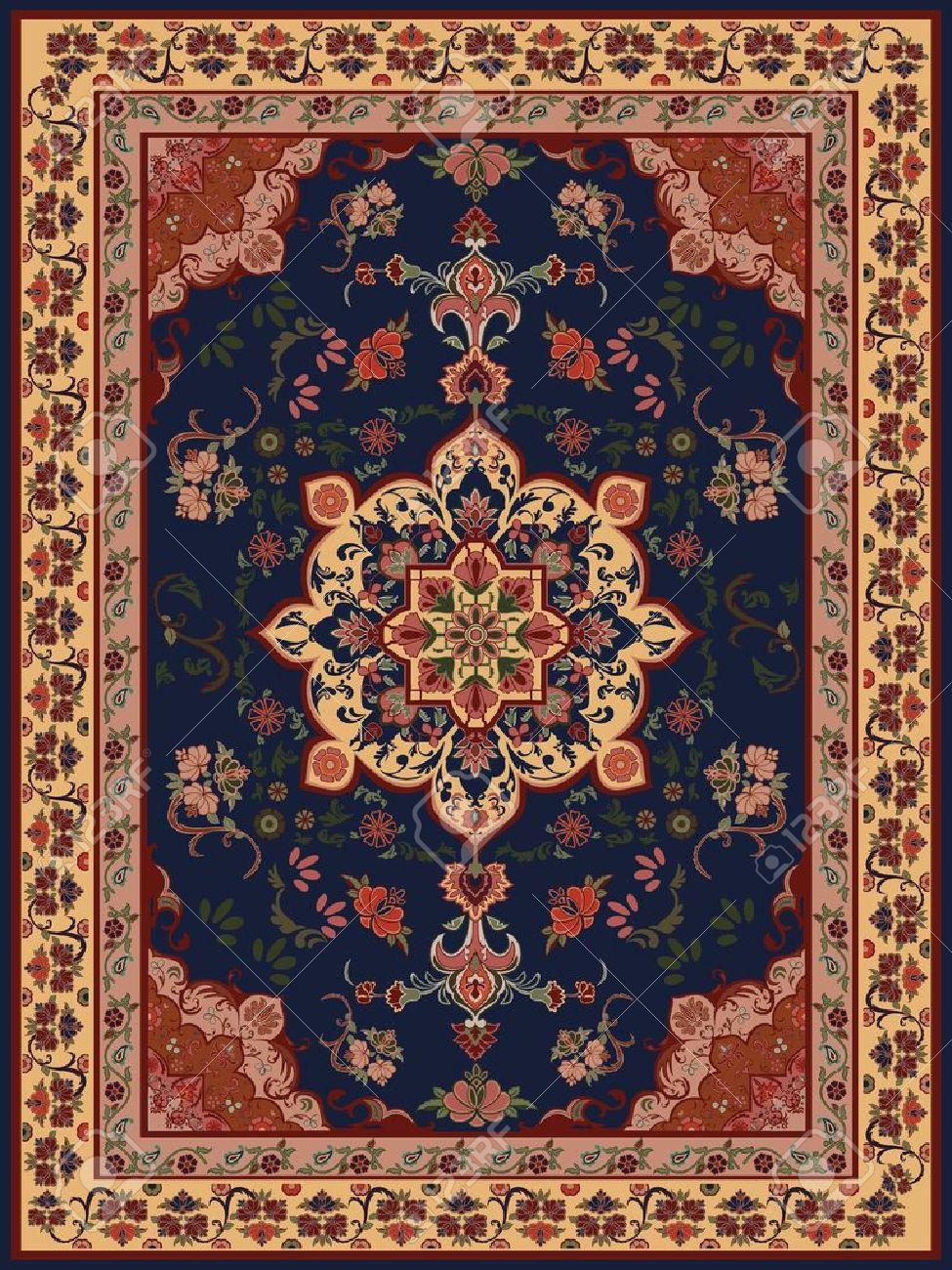 carpet design images oriental floral carpet design stock vector - 11431921 NJQEZXR