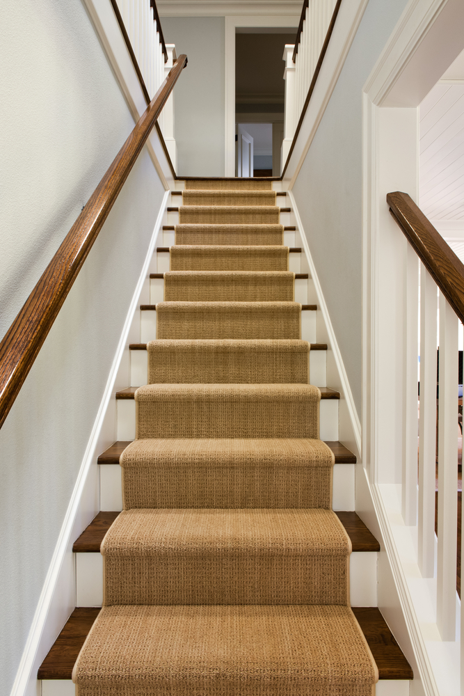 carpet for stairs carpet runner on stairs in concord california home WCOKYLP