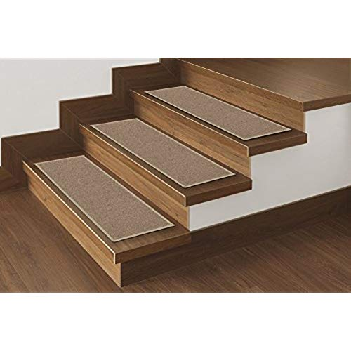 carpet for stairs ottomanson skid-resistant rubber backing non-slip carpet stair  treads-machine washable area rug(set of FTRJAIY