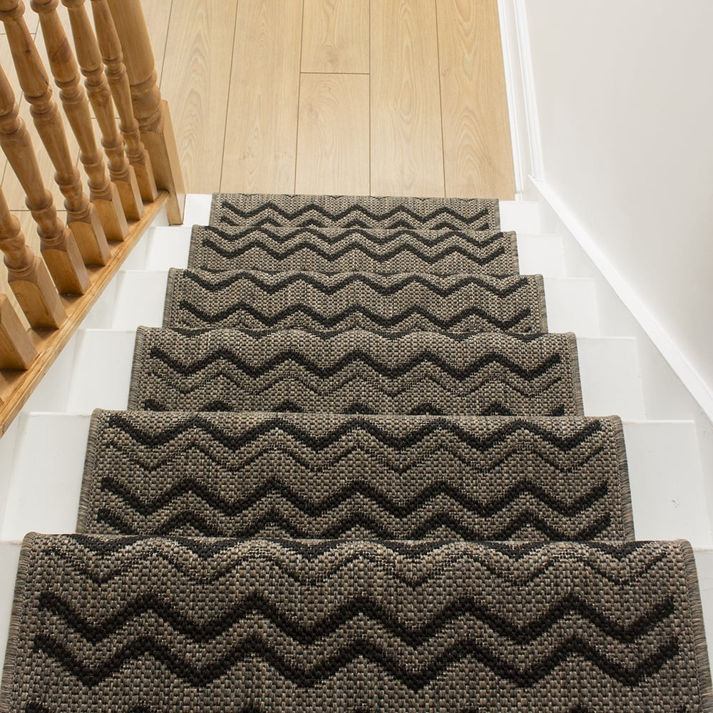 carpet runners chevron brown RUSPRJO