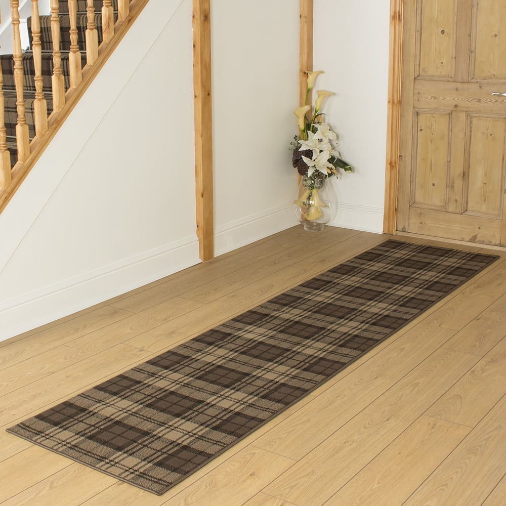 carpet runners tartan brown hallway carpet runner KJSUZCE