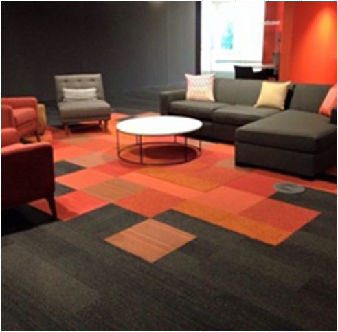 carpet tile designs create zones using carpet tiles OMLAEST