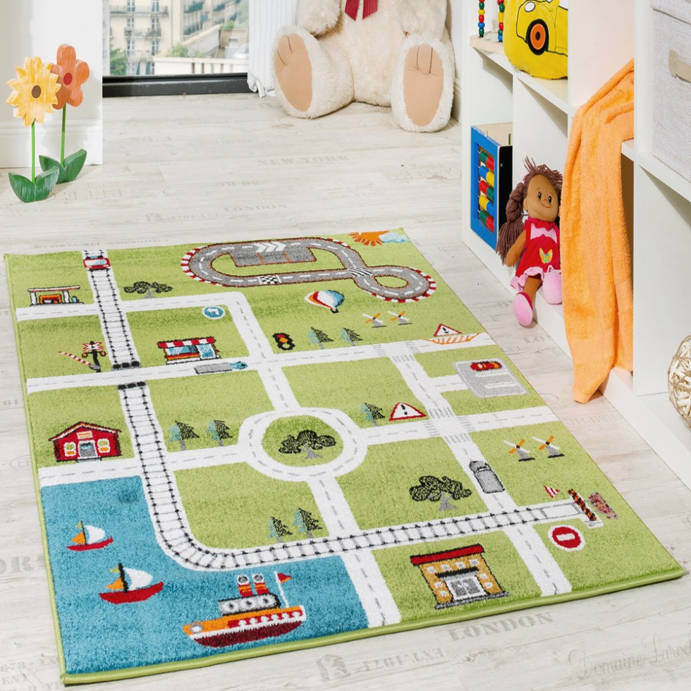 children rugs breathtaking children rug your house design: childrenu0027s rug play mat city  harbour XSSDHQV