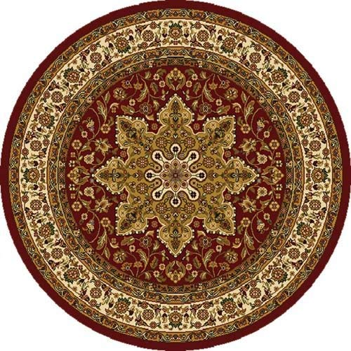 circular rugs home dynamix royalty 8083-200 red 5-feet 2-inch round traditional area rug KWPORKX