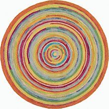 circular rugs thick textures and bright colors make this round rug, concentric squares  plush PUZKJPL