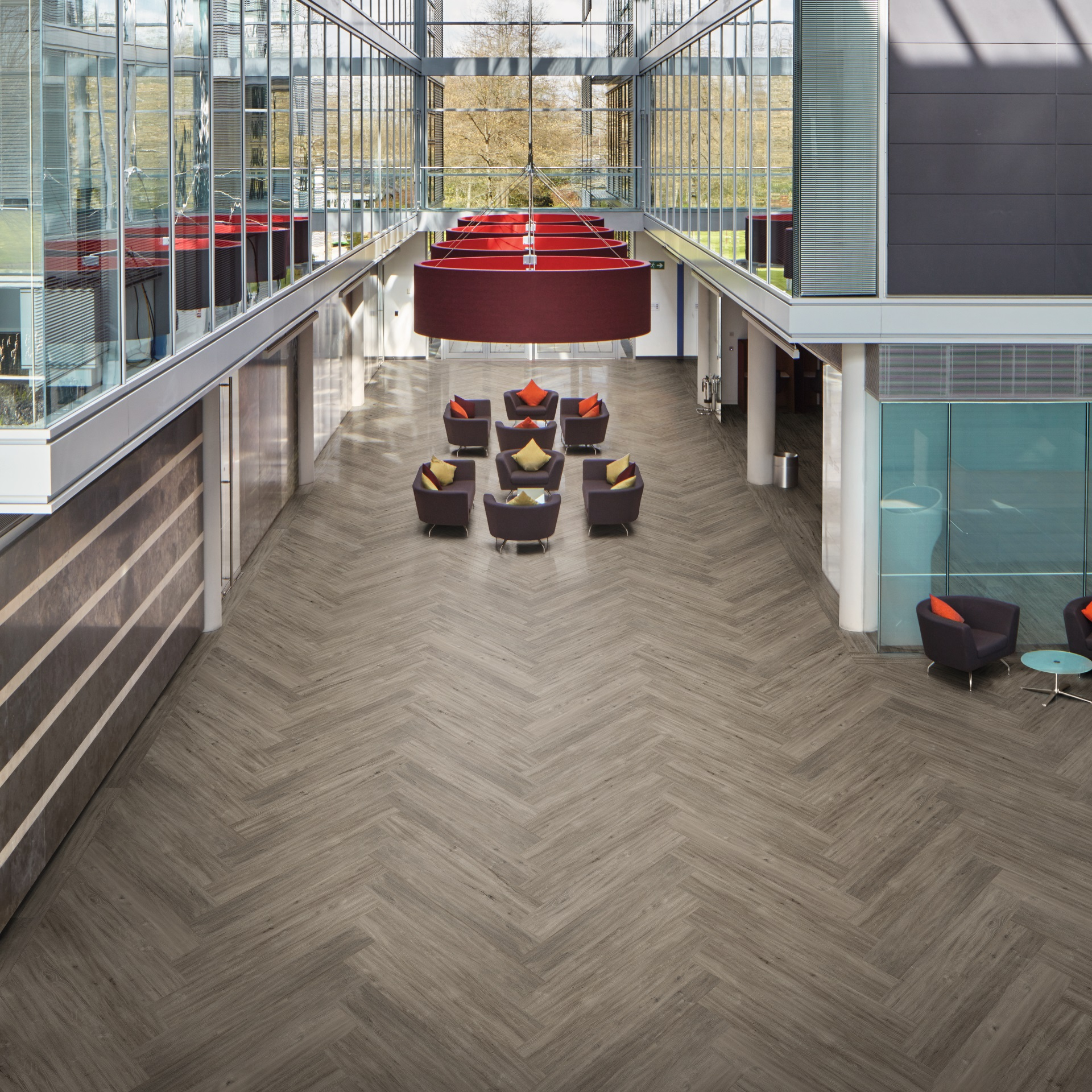 commercial flooring llp308 french grey oak office flooring - looselay longboard BZTKJRK