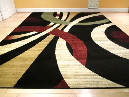 contemporary area rugs - graft on clock SICTAST