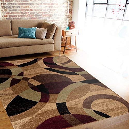 contemporary area rugs rugshop contemporary modern circles abstract area rug, 3u00273 MKGARCP