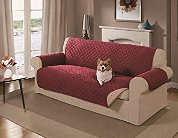 couch cover amazon.com : mason reversible sofa cover, red : pet supplies XEZJVME