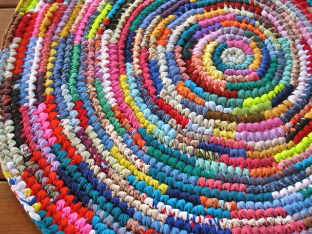 crochet rag rug ... burst of color crochet area rag rug | by mrs ginther NDRTIZZ