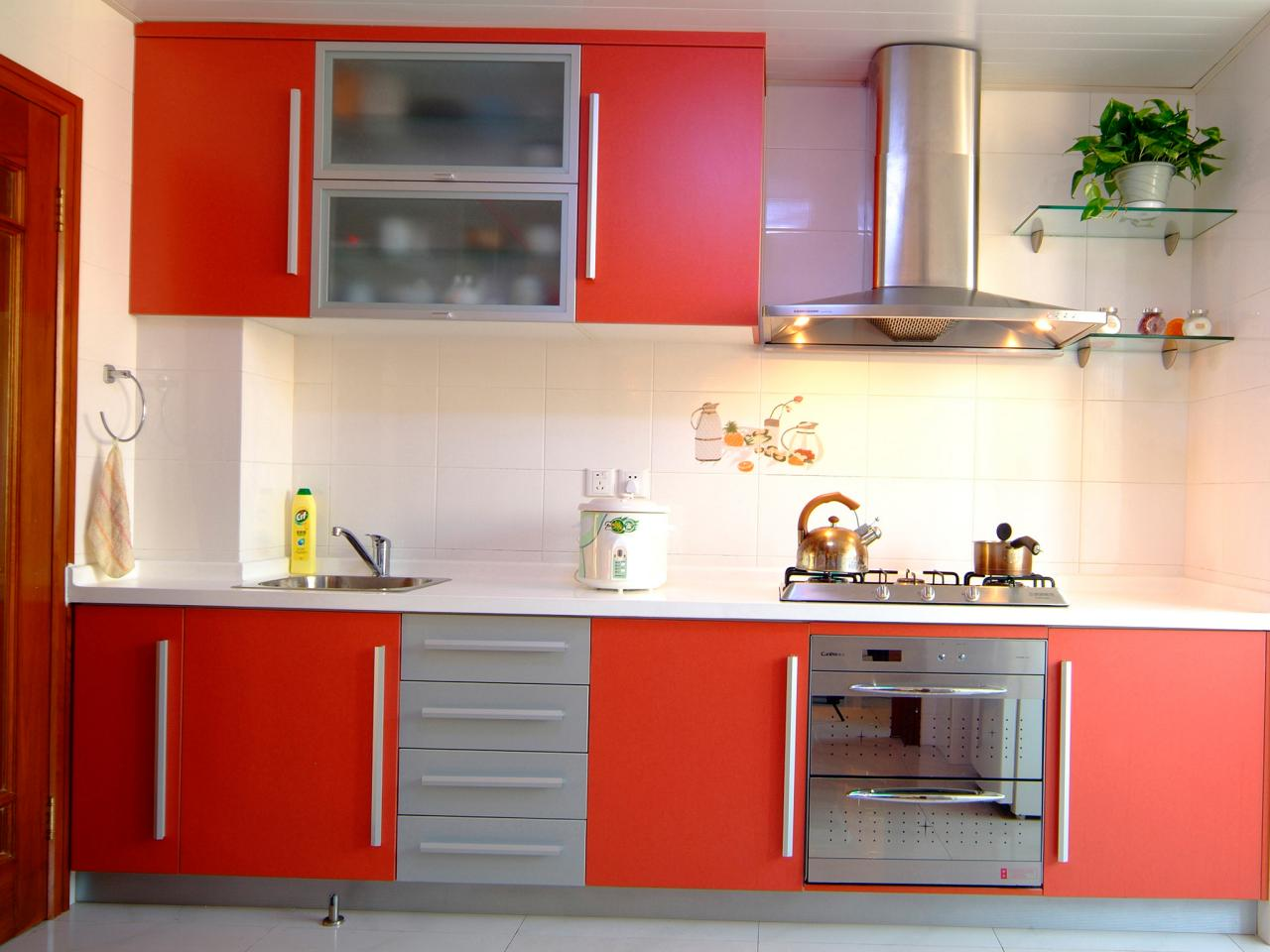 cupboards for kitchens red kitchen cabinets NZQPVZX